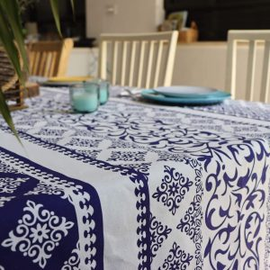 מפת שולחן - כחול לבן