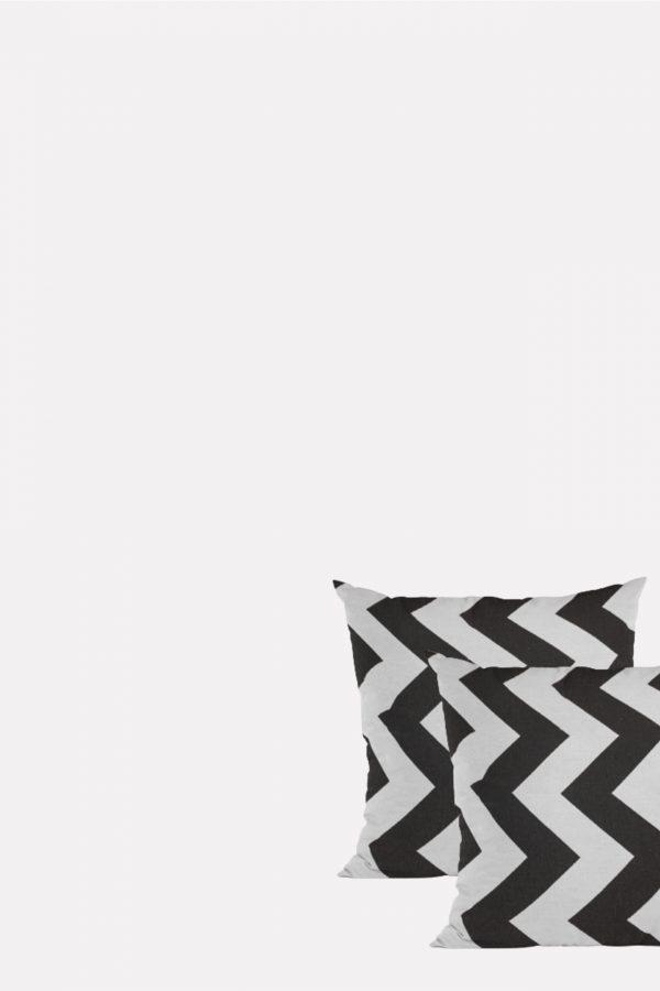 כרית נוי - שחור לבן