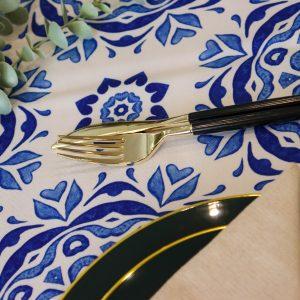 מפת שולחן - פרח יווני
